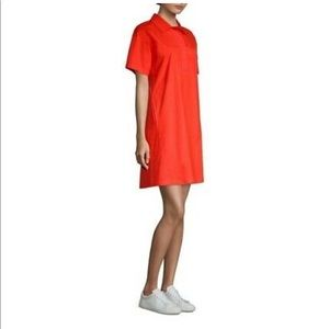 Eileen Fisher Organic Cotton Hot Red Sheath Dress